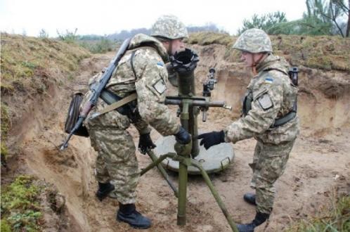 На украинских позициях взорвался «Молот»