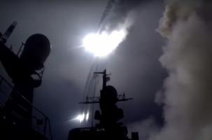 Ракетный удар России с Каспия