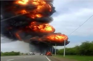 Взрыв грузовика на Ставрополье