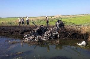 Вертолет сгорел. Пилот погиб. Сельская страда