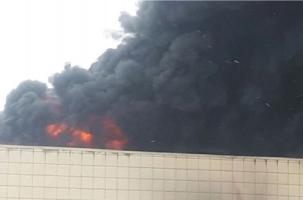 В Кемерово горит торгово-развлекательный центр