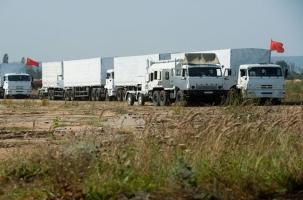 Второй гуманитарный конвой в Луганске