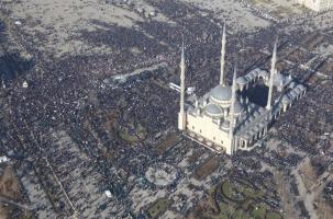 В Грозном протестовал миллион мусульман