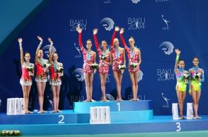 Российские гимнастки привезли из Баку много золота