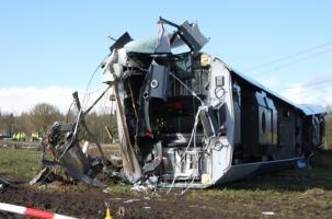 Катастрофа поезда в Голландии. Кадры с места ЧП