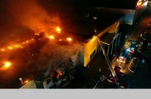 Большой пожар в торговом центре. Рязань