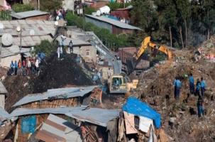 В столице Эфиопии городская свалка раздавила десятки домов
