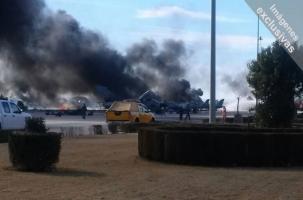 Крушение F-16 на учениях НАТО в Испании