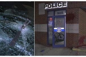 США: Анархисты напали на полицейский участок