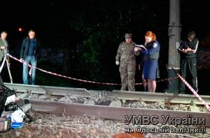 Взрыв железной дороги в Одессе